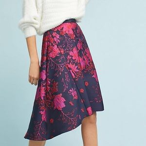 Anthropologie Asymmetrical Jacquard Skirt $178